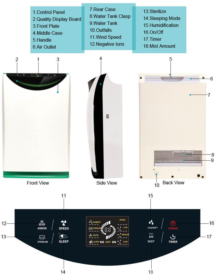 002 air purifier k02a